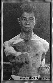 Shigeru Egami as a young karateka